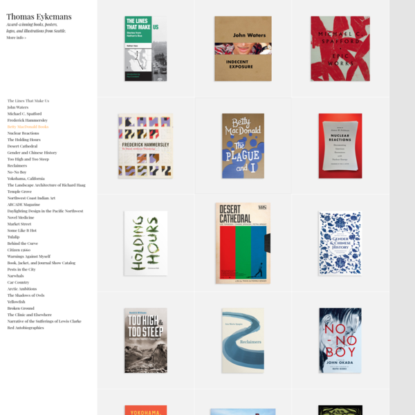 Eykemans Design | Books, Posters, Logos, and Illustrations | Seattle