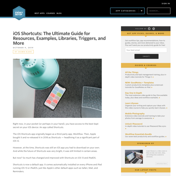 iOS Shortcuts Ultimate Guide: Reviews, Examples, Libraries, Tutorials...