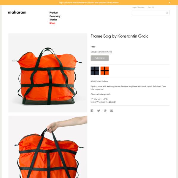 Maharam - Frame Bag by Konstantin Grcic