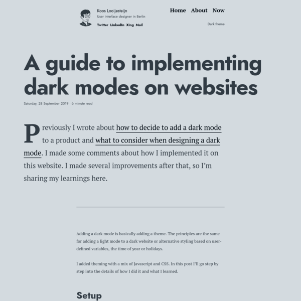 A guide to implemen­ting dark modes on websites