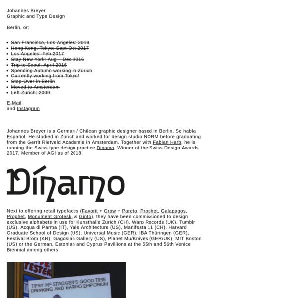 Johannes Breyer, Graphic & Type Design