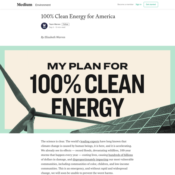 100% Clean Energy for America