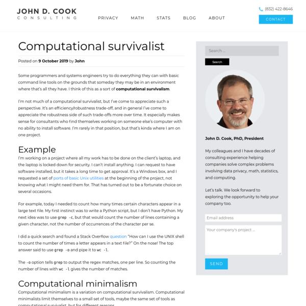 Computational survivalism