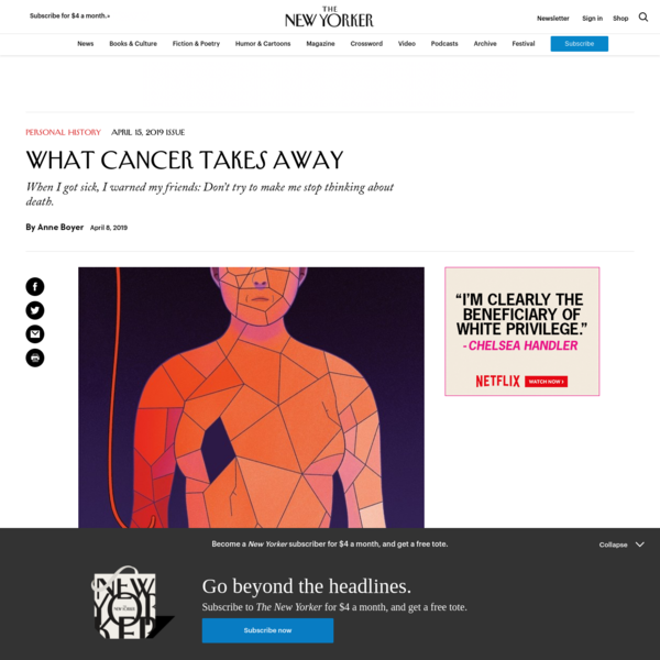 What Cancer Takes Away