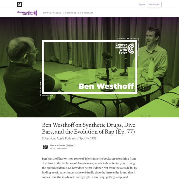 Ben Westhoff on Synthetic Drugs, Dive Bars, and the Evolution of Rap (Ep. 77)