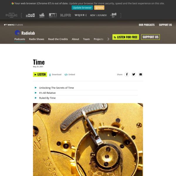 Time | Radiolab | WNYC Studios