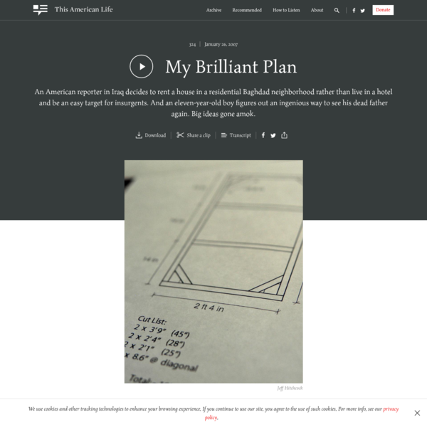 My Brilliant Plan - This American Life