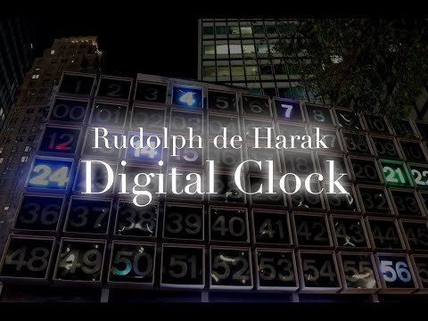 Rudolph de Harak Digital Clock