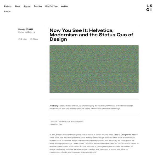 Now You See It: Helvetica, Modernism and the Status Quo of Design - LOKI