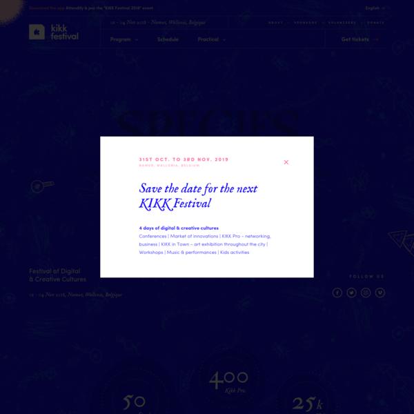 KIKK 2018 - KIKK Festival 2018 - 8th edition