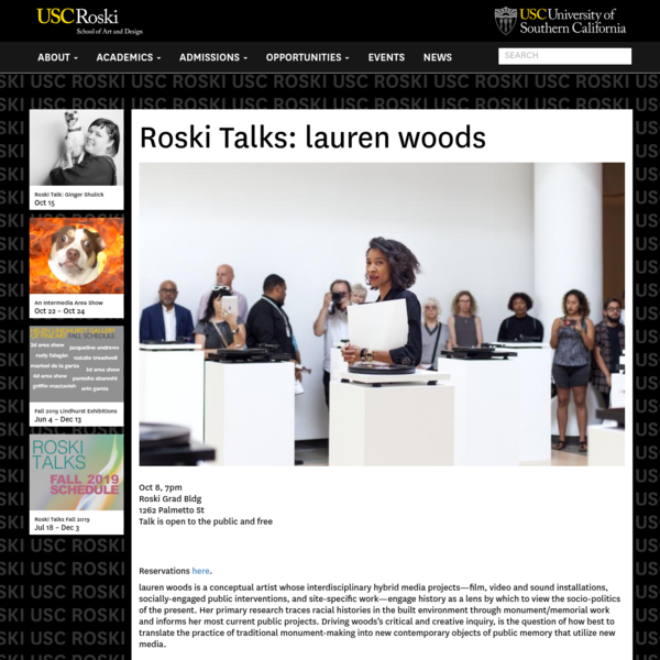 Roski Talks: lauren woods | Roski School of Art and Design