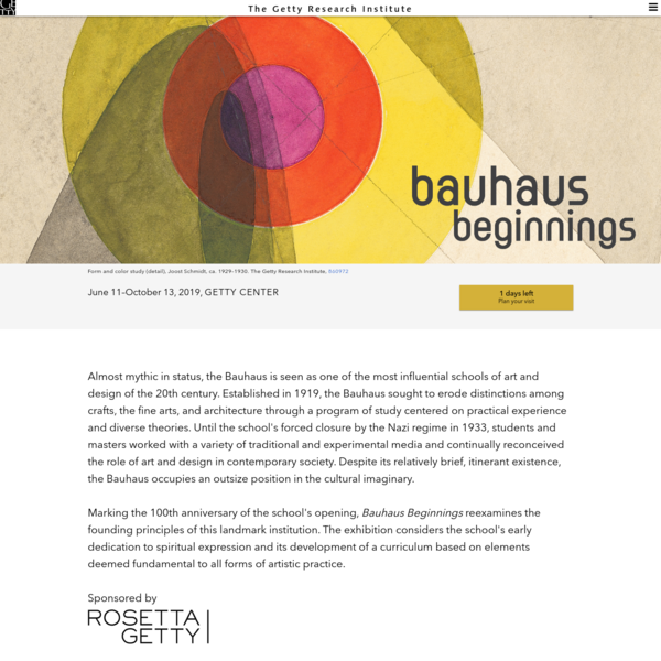 Bauhaus Beginnings