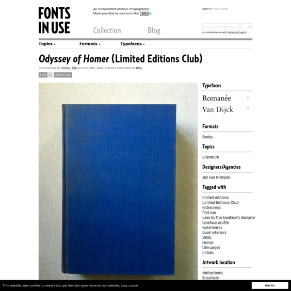 Odyssey of Homer (Limited Editions Club)