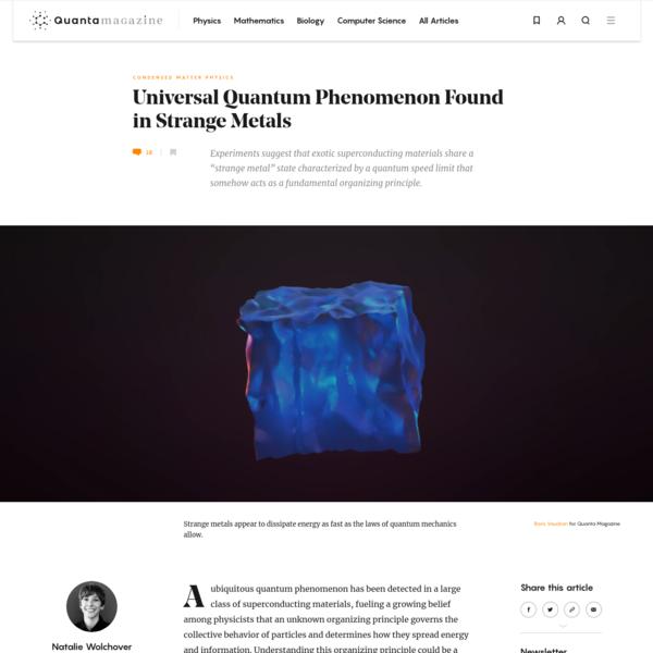 Universal Quantum Phenomenon Found in Superconductors | Quanta Magazine