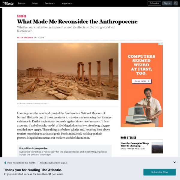 What Made Me Reconsider the Anthropocene