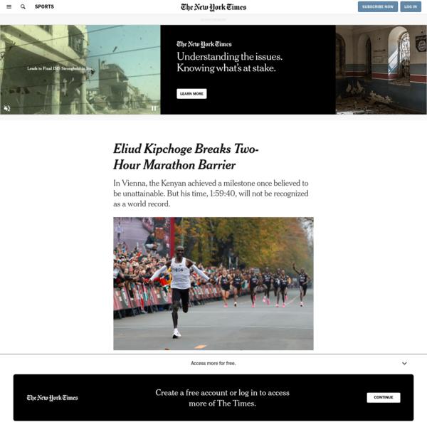 Eliud Kipchoge Breaks Two-Hour Marathon Barrier