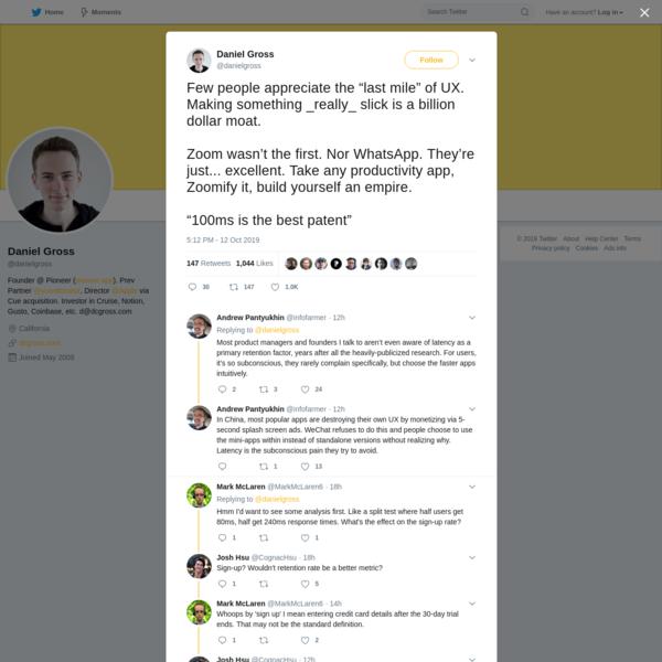 Daniel Gross on Twitter