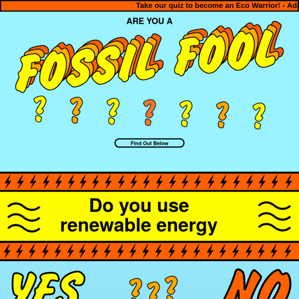 Are You A Fossil Fool - Take The Quiz!