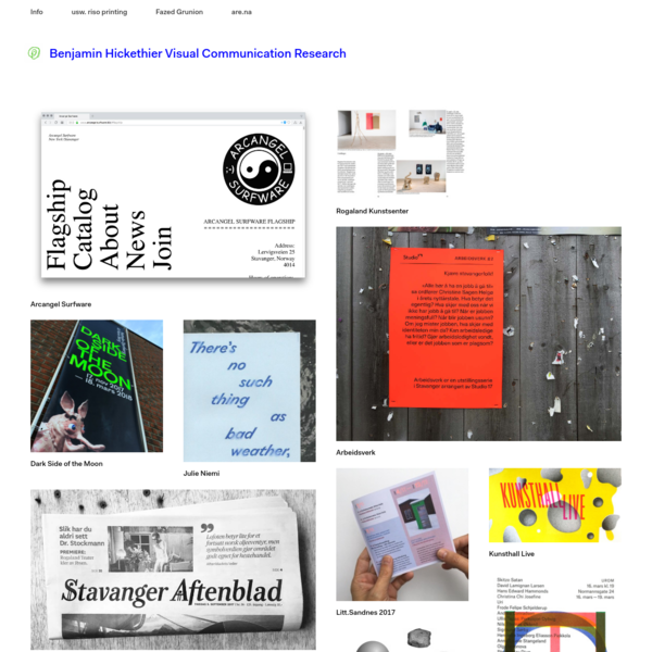 Benjamin Hickethier Visual Communication Research