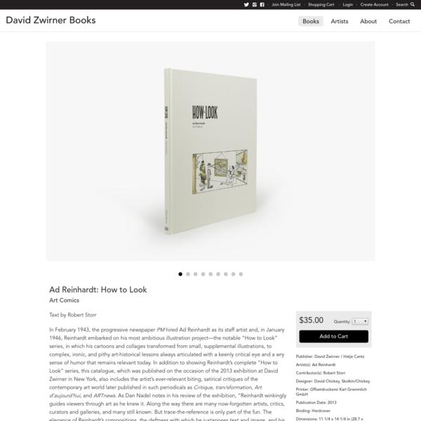 David Zwirner Books · Ad Reinhardt: How to Look