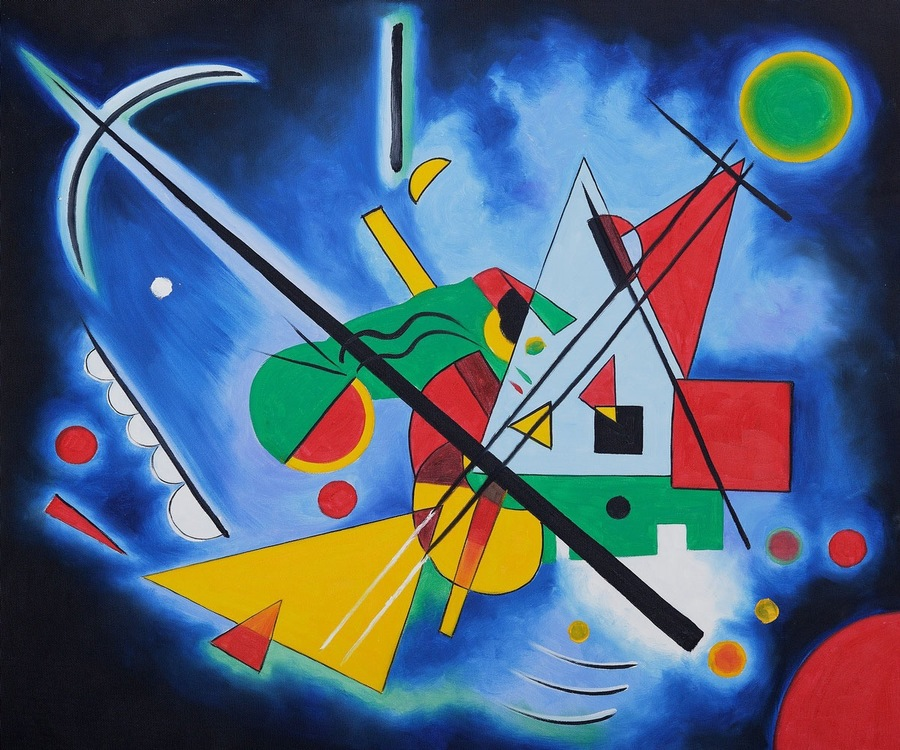 Blue Painting, by Wassily Kandinsky