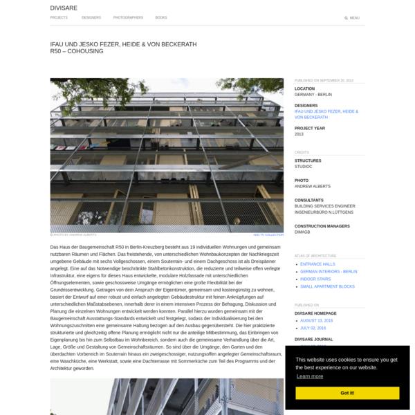 ifau und Jesko Fezer, HEIDE & VON BECKERATH · R50 - cohousing