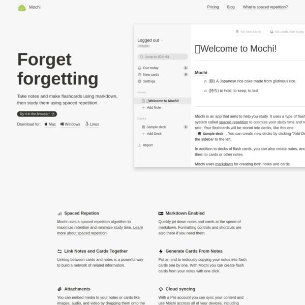 Mochi - Forget forgetting.