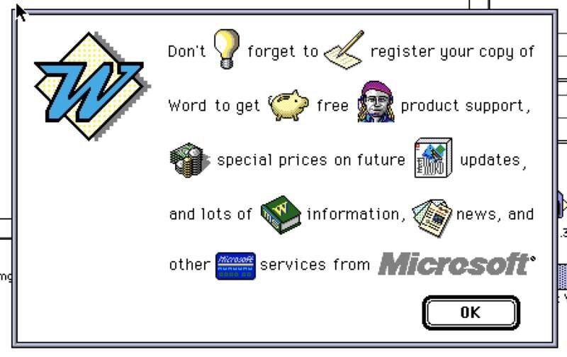 Microsoft Word 5.1a for Mac