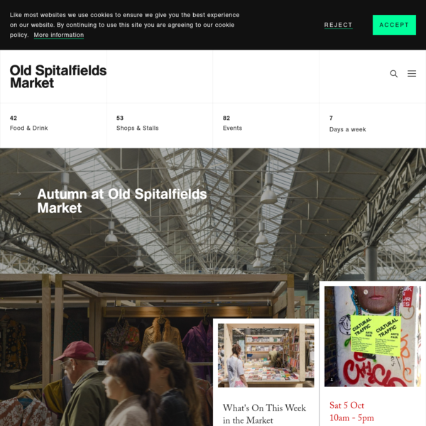 Old Spitalfields Market, London | Food & Drink, Antiques and Vinyl