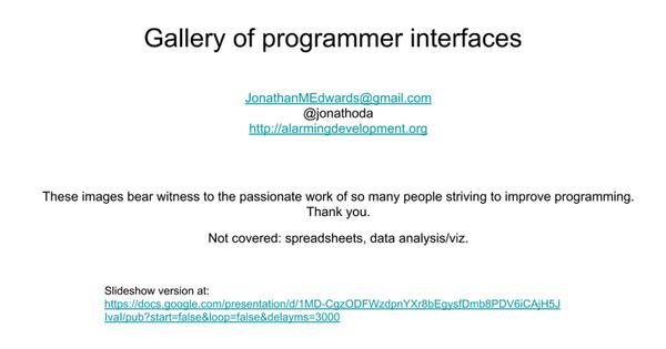 programmer interfaces
