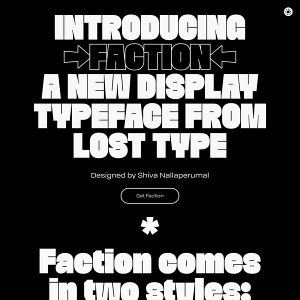 Faction typeface