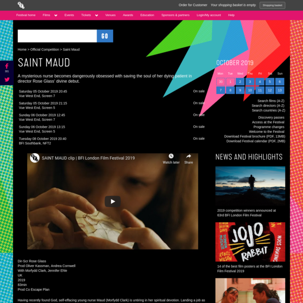 Saint Maud | BFI London Film Festival 2019
