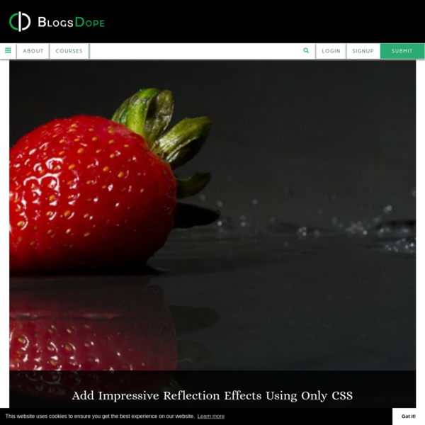 Add Impressive Reflection Effects Using Only CSS