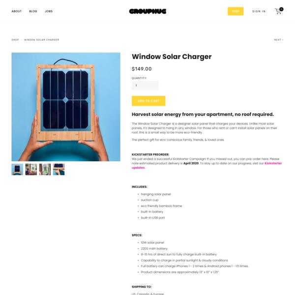 Window Solar Charger - Grouphug Tech
