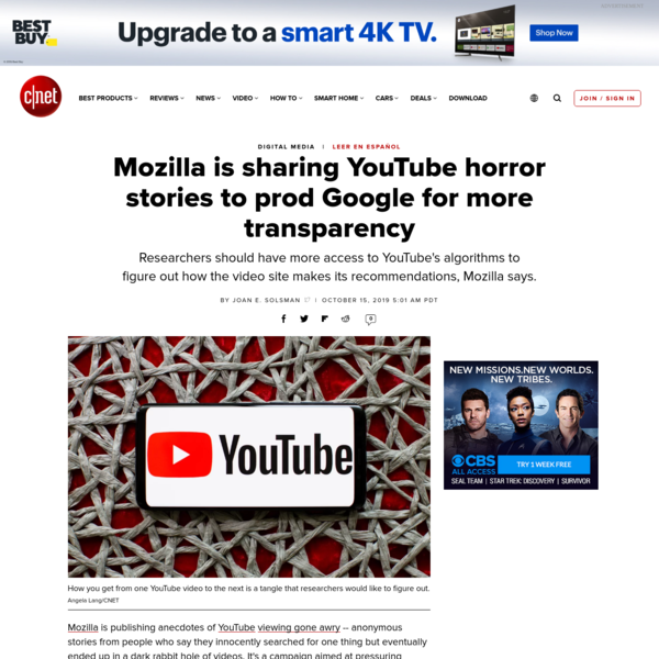 Mozilla is sharing YouTube horror stories to prod Google for more transparency