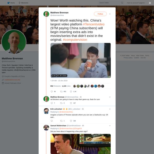 Matthew Brennan on Twitter