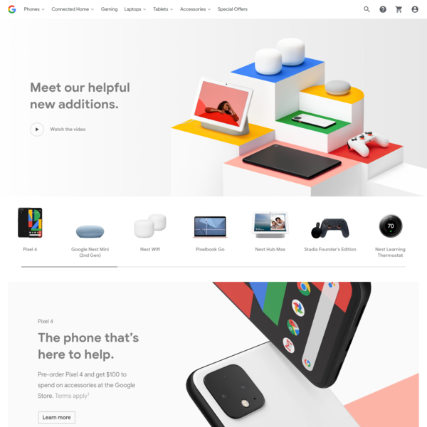 Google Store for Google Made Devices & Accessories