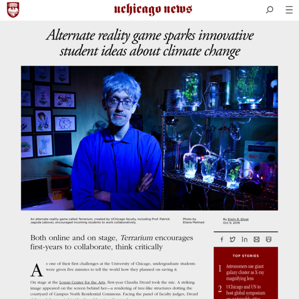 Alternate reality game sparks innovative student ideas about climate change
