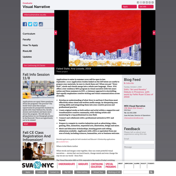 School of Visual Arts | SVA | New York City > Graduate