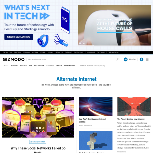 Alternate Internet - Tech and Science Tips, Reviews, News And More. | Gizmodo