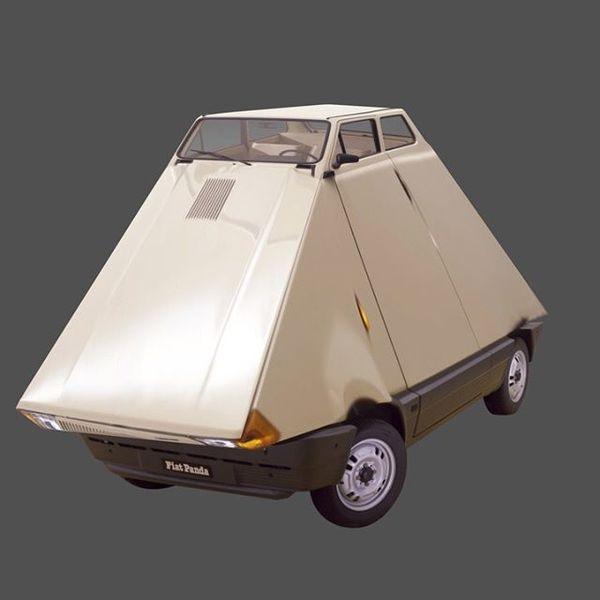 #shape #study #02 #fiat #1980 #fiatpanda141 #car #vehicle #80s #distortion #shape #animation #design #motion #motiondesign #...