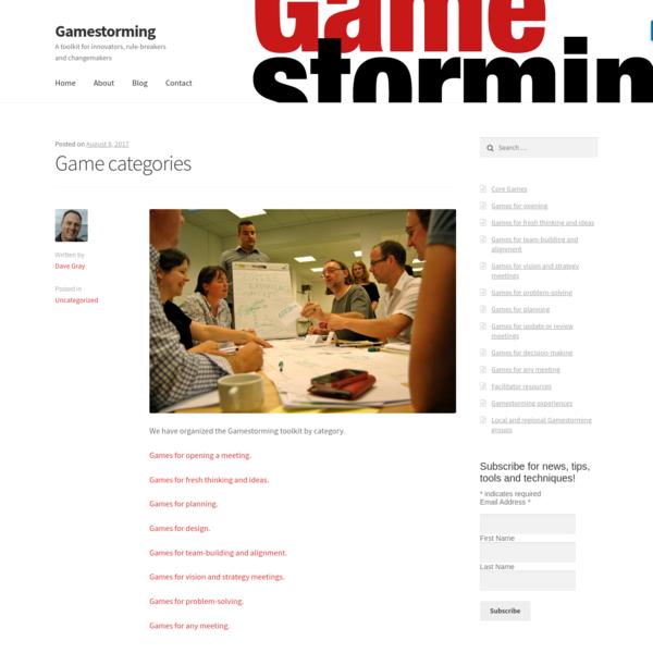 Game categories - Gamestorming