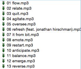 <i>Transform</i> tracklist in my Soulseek search field