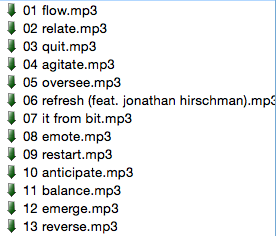 <i>Transform</i> tracklist in my Soulseek search field