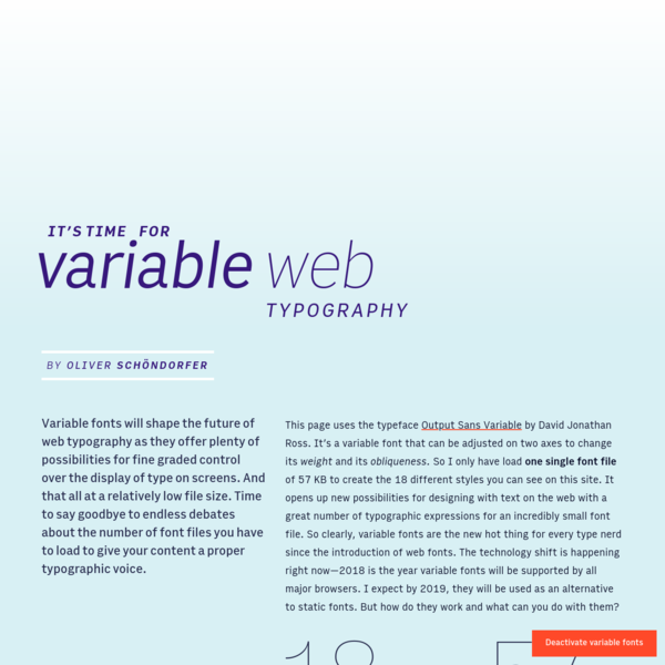 Variable Web Typography - Demo of a variable font in action on the web