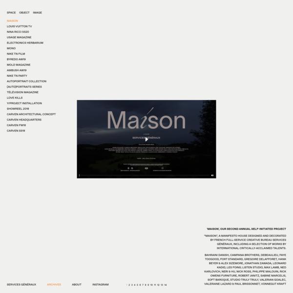 MAISON | SERVICES GÉNÉRAUX