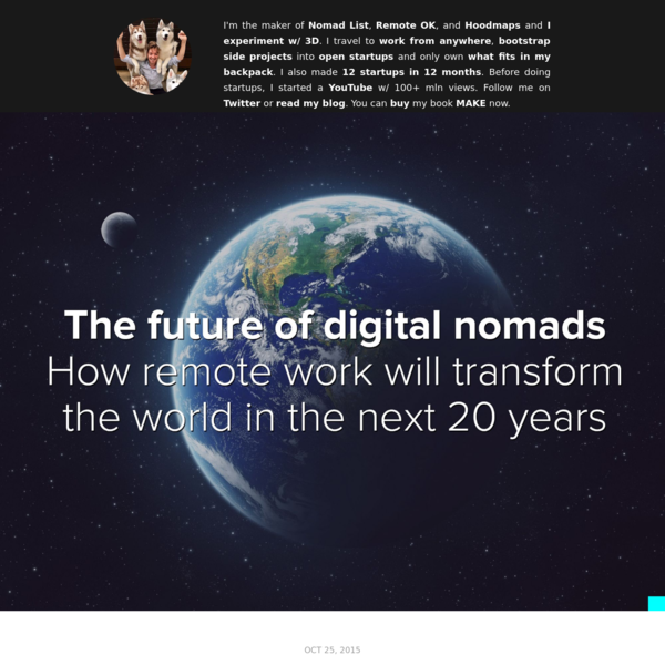 """There will be 1 billion digital nomads by 2035"""