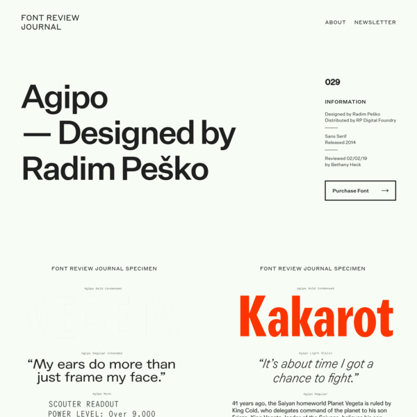 Agipo - Font Review Journal