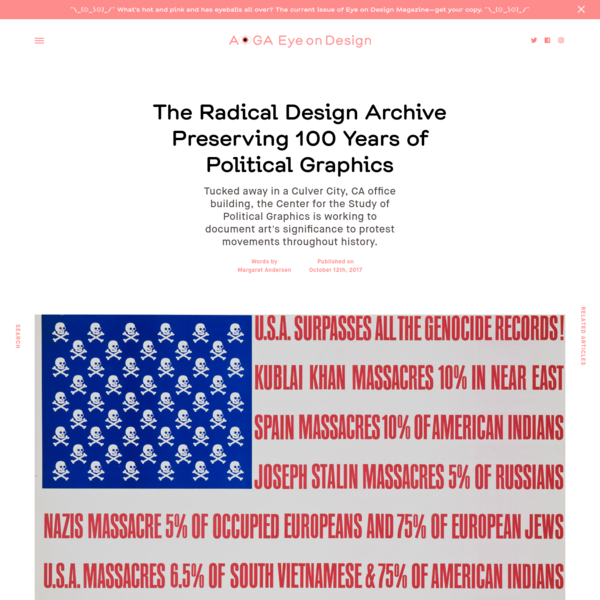 The Radical Design Archive Preserving 100 Years of Political Graphics
