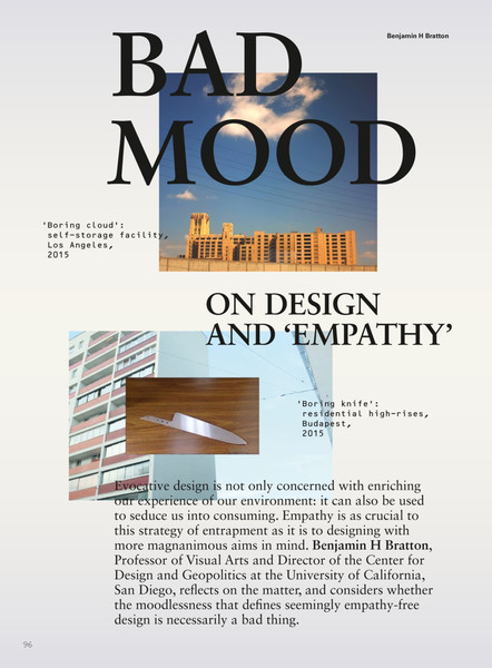 benjamin h bratton bad mood on design and empathy